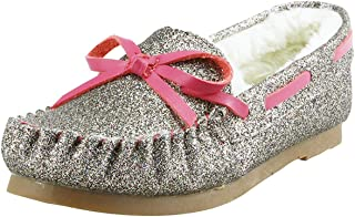 The Doll Maker Shearling Glitter Moccasin-Grape