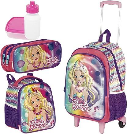 d3c3e83866 Kit Mochila Infantil Barbie 18X 3D Lancheira Estojo Sestini