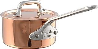 Mauviel M'Minis kopparkastrull och lock med handtag i rostfritt stål 9 cm