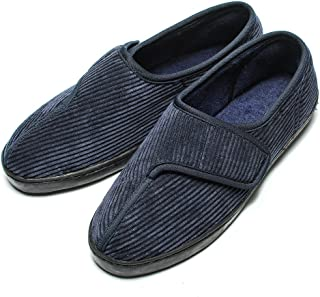 Diabetic Slippers Shoes for Men Arthritis Edema Adjustable Closure Memory Foam House Shoes