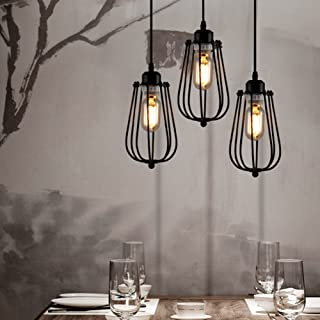 Vintage Light Bulb Retro Industrial Edison Metal Shade Ceiling Pendant Lamp Fixture Black by Beisaqi