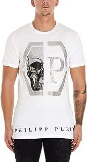 Philipp Plein Luxury Fashion Mens MTK4346PJY002N01 White T-Shirt |