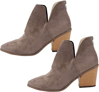 Holibanna Bottine Grise Bottine Bottes Courtes Pointues Simples Bottes Polyvalentes Élégantes Chaussures Élégantes Créatives