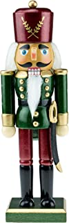 Clever Creations Wooden Green and Maroon Traditional Soldier Nutcracker | Festive Green and Maroon Soldier Military Outfit | Festive Christmas Decor | Stands 10.25