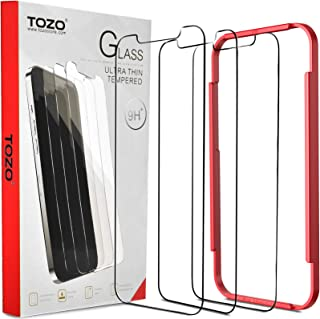 TOZO for iPhone 12 Pro Max 6.7 inch Screen Protector [3-Pack] Premium Tempered Glass [0.26mm] 9H Hardness 2.5D Film Super ...