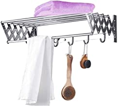 Home Retractable Clothes Rack - Wall Mounted Folding Clothes Hanger Drying Rack for Laundry, Bedroom Pool Area Etc (Color ...