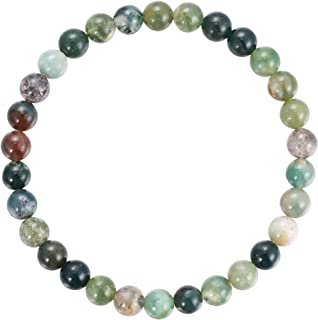 Gemstone Bracelets Natural Gemstone Birthstone Handmade Healing Power Crystal Beads Elastic Stretch 7.5 Inch Gift Box Unisex