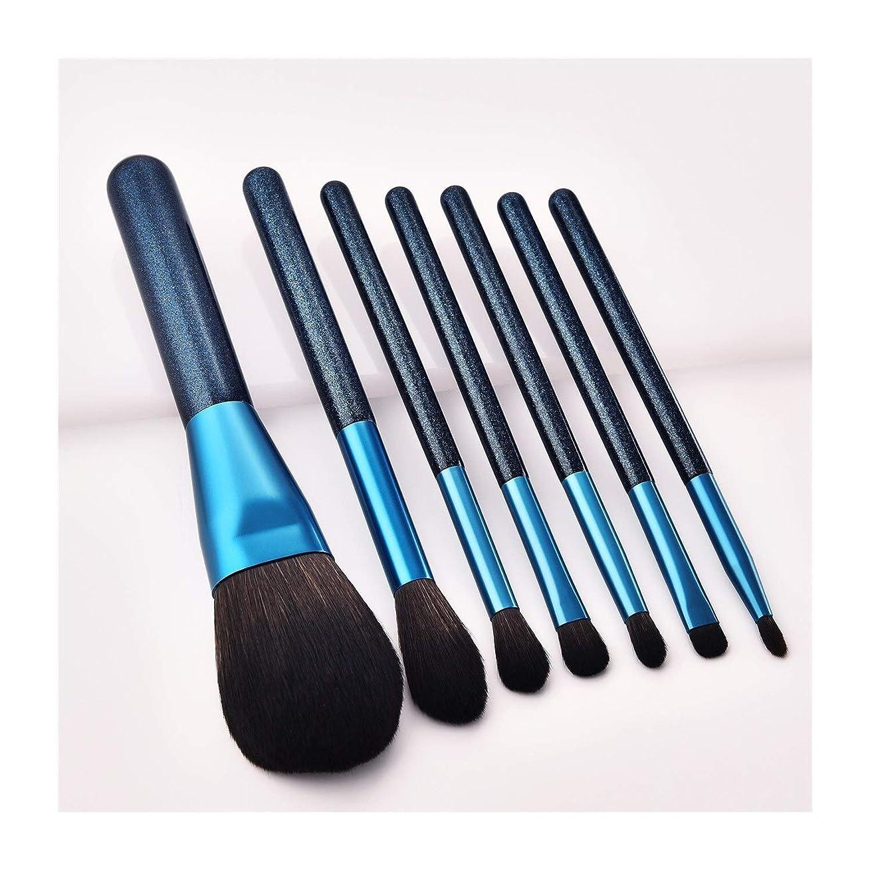 共和党定期的に作る12ピース化粧ブラシサファイアブルーブラッシュブラシアイシャドウブラシ高品質美容ブラシセットポータブル化粧ブラシ メイクアップブラシ (Color : Blue, サイズ : 12 Pieces)
