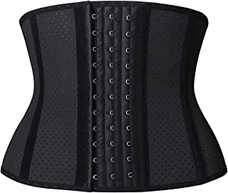 YIANNA Short Torso Waist Trainer Corset for Weight Loss Sports Workout Hourglass Body Shaper