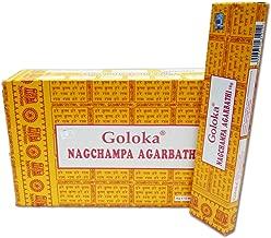Goloka Nag Champa Incense Sticks (16 grms) - 12 Boxes -
