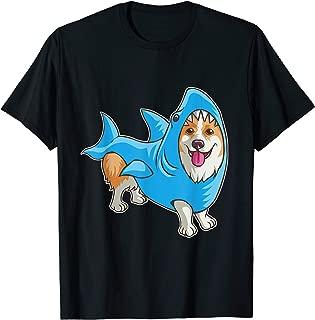 Shark Corgi Shirt Funny Dog Suit Puppy Great White Gift