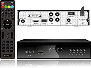KOQIT FTA HD DVB S2 Digital Satellite TV Receiver Built-in Galaxy 19 97W UL Listed Satellite Receiver DVB-S2 Tv Box Clear ...