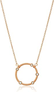 Dogeared Infinity + One, Small Crystal Halo Chain Necklace, 16