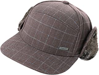 Unisex Winter Fitted Baseball Cap Faux Fur Earflaps Trapper Elmer Fudd Hat 56-62cm