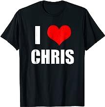 I Love Chris T-Shirt - Heart