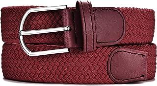 MASADA Cinturón de tela - Cinturón stretch elástico para hombres y mujeres 3,2 cm de ancho 90-120 cm de largo