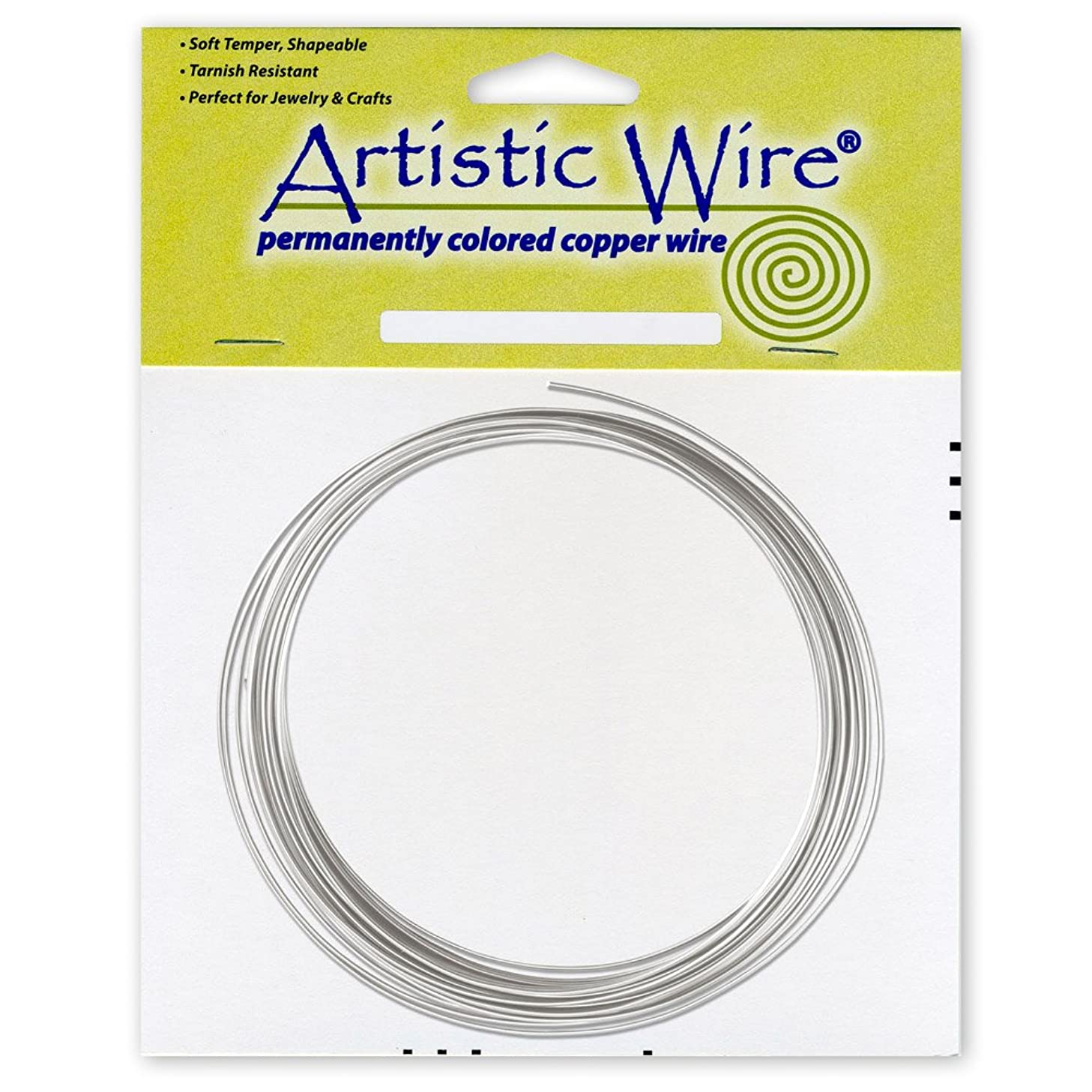 Artistic Wire 12-Gauge Tinned Copper Coil Wire, 25-Feet