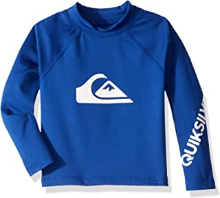 Quiksilver Boy's 2-7 All Time Long Sleeve UPF 50 Rashguard Size 3