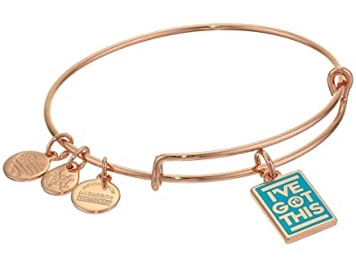 Alex and Ani Barbie Charm Bangle Bracelet (Rose Gold/I