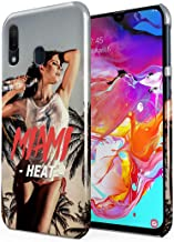 Heat in Miami Beach Wet Naked Sexy Naughty Model Girl Palm Trees Ocean Drive Plastic Phone Snap On Back Case Cover Shell Compatible with Samsung Galaxy A40