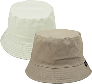 78f07b6a Faleto Bucket Hat Boonie Hat Wide Brim Fishing Hat Reversible Cotton Casual  Plain Cap