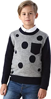 Boys' Wool Blends Casual Dobby Sweater Pullover Navy