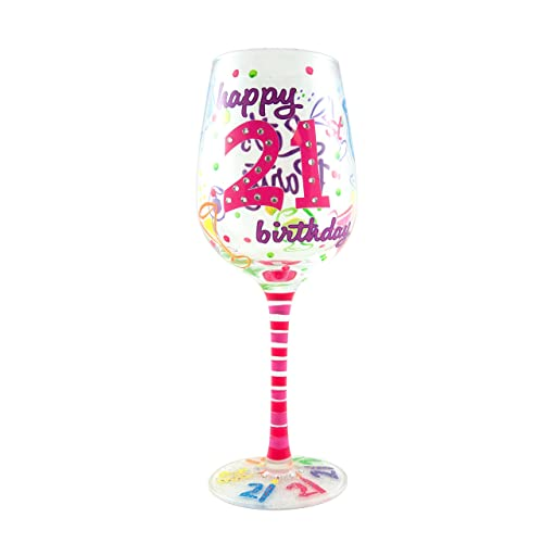 Top Shelf 21st Birthday Wine Glass