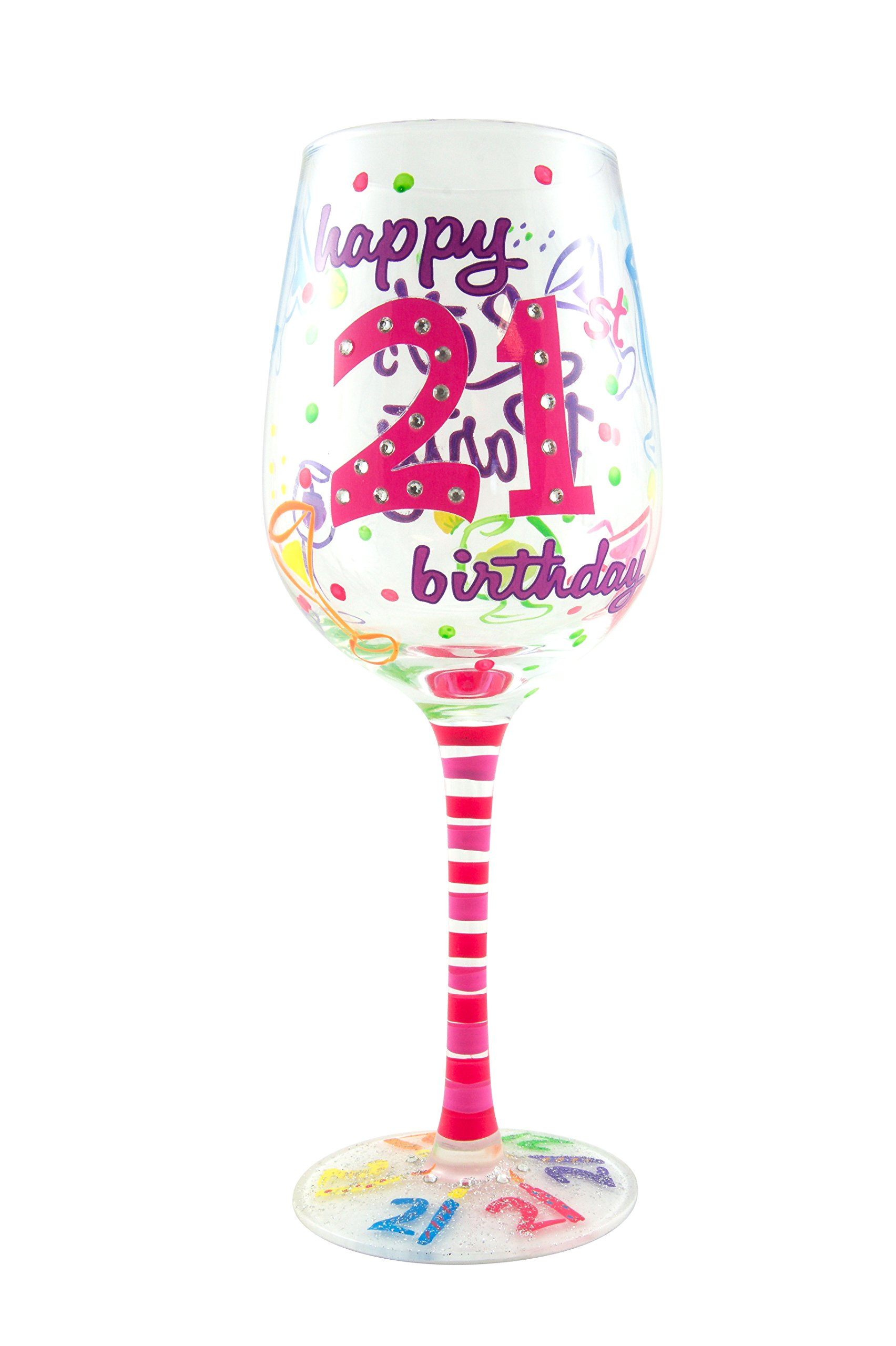 Top Shelf 21st Birthday Wine Glass - Hand Painted - Unique Gift Idea  sc 1 st  Amazon.com & 21 Birthday Gifts for Her: Amazon.com
