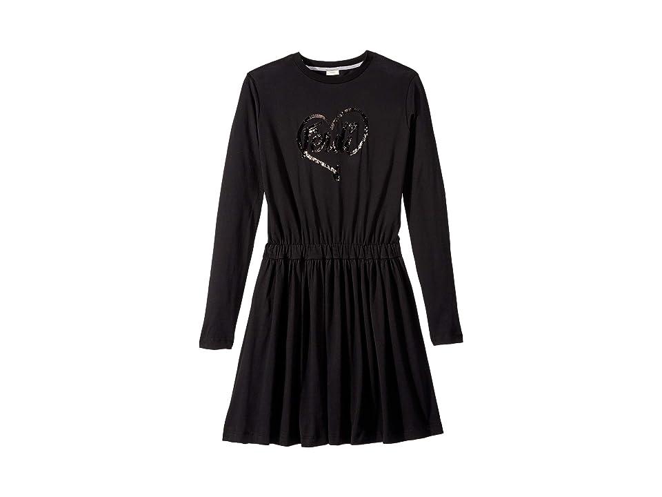 Fendi Kids - Fendi Kids Long Sleeve Logo Heart Dress