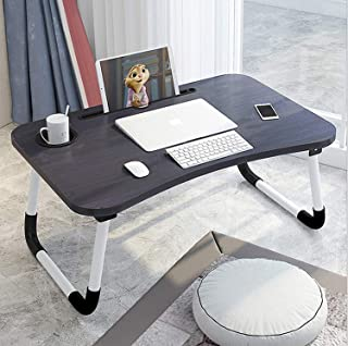 Beauenty Folding Bed Table Laptop Tray with iPad and Cup Holder Adjustable Lap Tray Notebook Stand Foldable Portable Stand...
