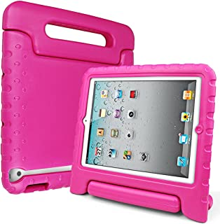 SIMPLEWAY iPad Case, iPad 2/3 / 4 Case, Shockproof Lightweight Convertible Handle Stand Kid-Proof Protection Cover Compatible with Apple iPad 2, iPad 3rd Gen, iPad 4th Generation Tablet, Rose