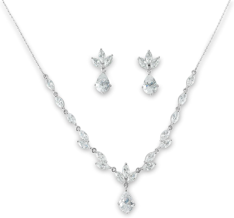 Bridal Teardrop Pear Cubic Set favorite Silver Jewelry Zirconia Weekly update