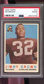 1959 Topps #10 Jimmy Brown Jim Brown Cleveland PSA 2 Graded Football Card NFL