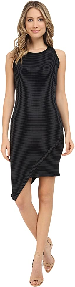 Michael Stars - Amalfi Ribbed Stripe Asymmetrical Dress