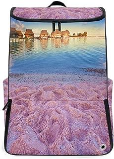 Travel Backpack Colored Sand Beaches School Backpack for Men Big Backpacking Bookbag