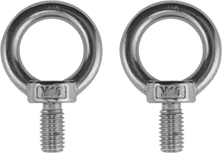 2 Pieces Stainless Steel 316 Lifting Eye Bolt 10mm M10 Marine Grade