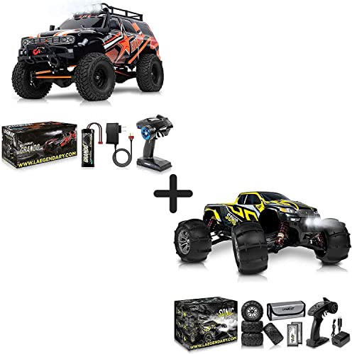 new arrival 1:10 Scale Large RC Rock online Crawler and 1:16 discount Brushless Scale Large RC Cars 60 kmh Speed RC Truck - Kids and Adults Remote Control Car 4x4 Off Road Monster Truck Electric - Waterproof Toys outlet online sale