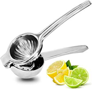 Jeanzer Manual Lemon Squeezer/Lime Juicer/Citrus Press - Quality 304 Stainless Steel with Large Bowl