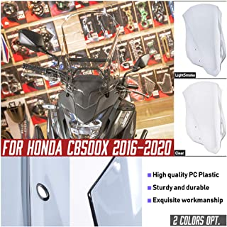 FATExpress CB500X Motorcycle Windshield Windscreen Injection Airflow Wind Deflectors Screen Flyscreen Protector for 2016 2...