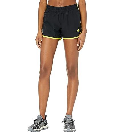 adidas M20 Shorts (Black/Acid Yellow) Women