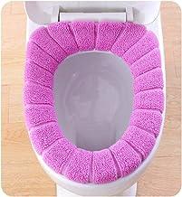 Clearance Sale!DEESEE(TM)🍀🍀Comfortable Velvet Coral Toilet Seat Cover Standard Pumpkin Pattern Cushion (Purple)