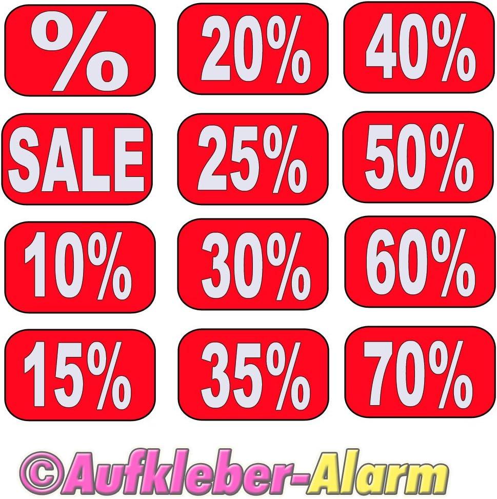 Prozentzeichen Aufkleber Schaufenster Beschriftung 3 Stück Der Gezeigten 12 Stück 15x30cm Küche Haushalt