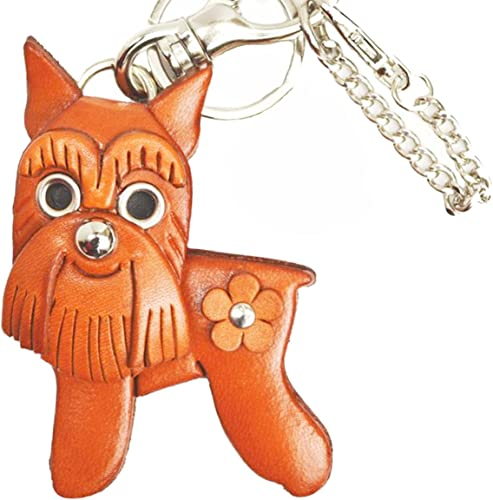 (Handmade made in Japan new craftsman) genuine leather bag charm schnauzer VANCA CRAFT (japan import)