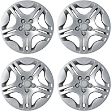 15 inch Hubcaps Best for 2004-2008 Chevrolet Malibu - (Set of 4) Wheel Covers 15in Hub Caps Chrome Rim Cover - Car Accessories for 15 inch Wheels - Snap On Hubcap, Auto Tire Replacement Exterior Cap)