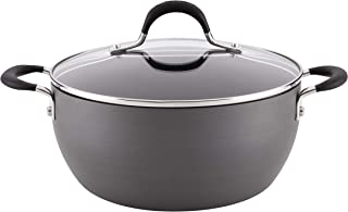 Circulon 83732 Momentum Hard Anodized Nonstick Casserole Dish/Casserole Pan with Lid - 4.5 Quart, Gray