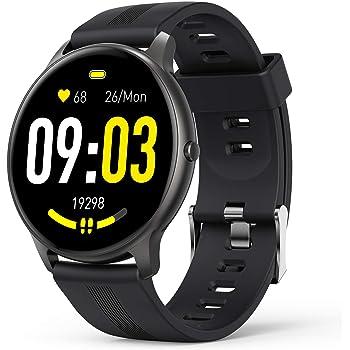 """AGPTEK Smartwatch Uomo Fitness Impermeabile IP68 Sport, Cardiofrequenzimetro da Polso Uomo con Touchscreen 1.3"""", Smart Watch Sportivi Controllo Musica Cronometro Contapassi (Nero)"""