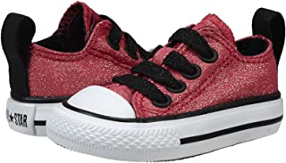 Converse Toddler's Chuck Taylor 735477f Casual Flat Sneaker - Rasberry Black (2, Raspberry/Black)