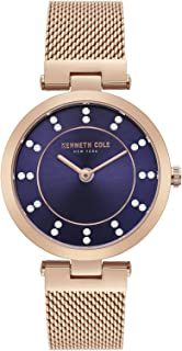 Kenneth Cole Women's Blue Dial Stainless Steel Band Watch - KC50200004