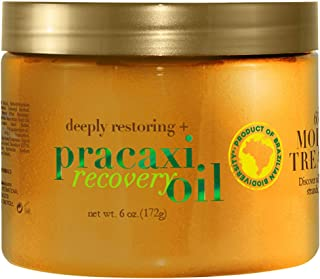 OGX Deeply Restoring + Pracaxi Recovery Oil Anti-Frizz Deep Conditioning In-Shower Moisture Treatment with Murumuru Butter, Sulfate-Free Surfactants Hair Mask to Nourish & Restore, 6 oz