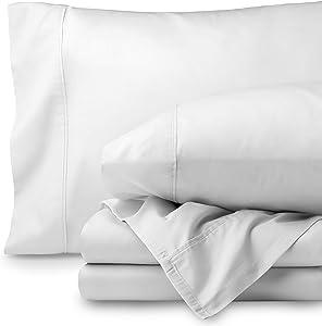 Bare Home Egyptian Cotton 300 Thread Count Sateen King Sheet Set (King, Créme White)